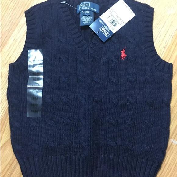 Ralph Lauren Boys Knit Polo Vest Ralph Lauren  18M